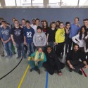 Maria Kluge mit Baltimore Boys und Schulkindern in Salzburg