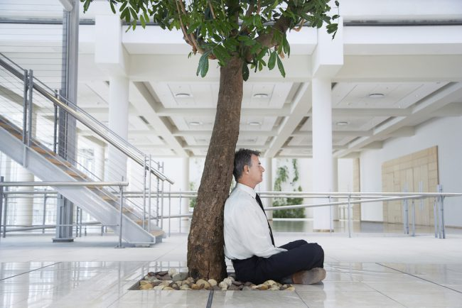 Meditieren zwischen den Jobs