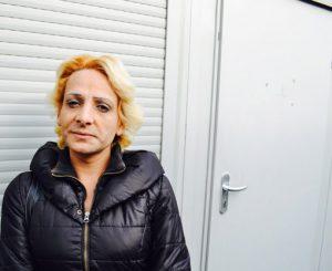 obdachlose Frau