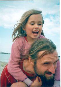 Steve Heitzer mit seiner Tochter Anna.