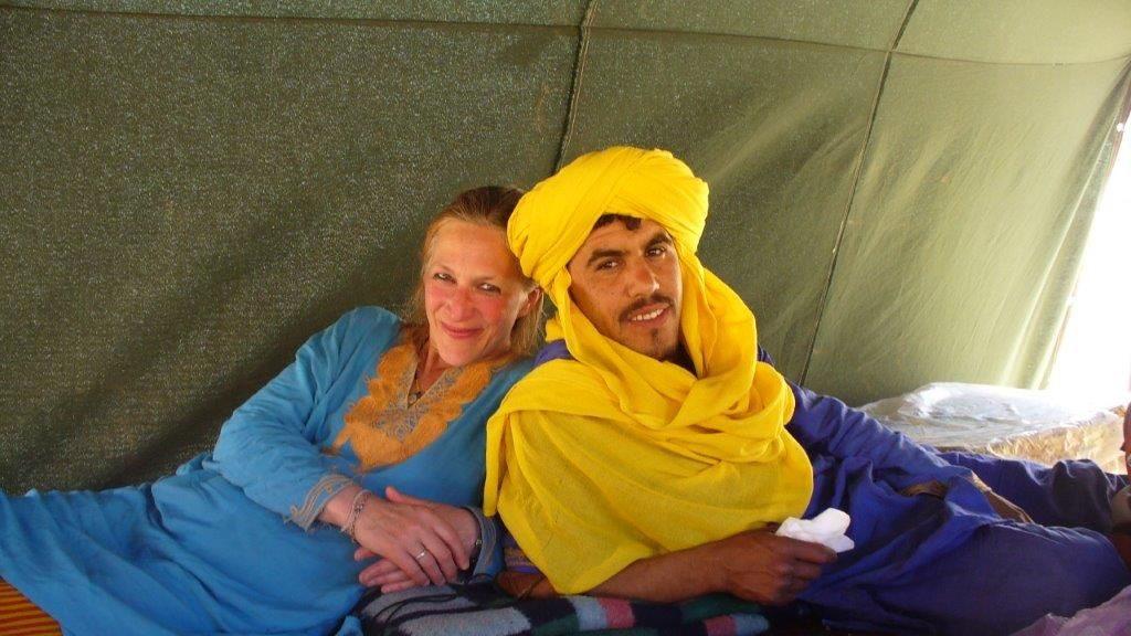 Isabel von Roon mit ihrem Mann, dem Berber Brahmin